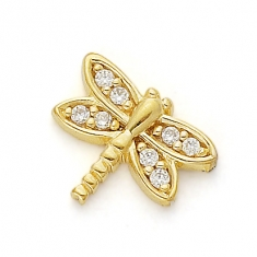 GOLD / CZ DRAGONFLY