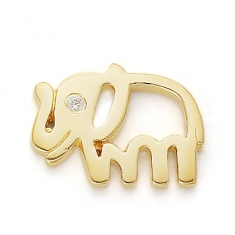 GOLD / CZ PATIENT, STRONG, GOOD LUCK ELEPHANT