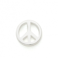 SILVER / PEACE SIGN