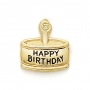 GOLD / CZ  BIRTHDAY CAKE