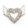 SILVER / CZ WINGED HEART