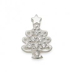 SILVER / CZ CHRISTMAS TREE