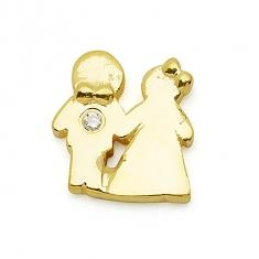 GOLD / CZ  BRIDE & GROOM