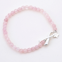 Breast Cancer Awareness Silver Bracelet