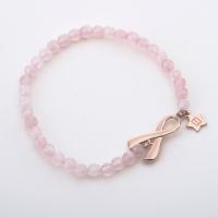 Breast Cancer Awareness Rose Gold Bracelet