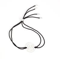 The Brow Chakra Silver- black cord