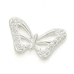 SILVER / CZ BEAUTIFUL BUTTERFLY
