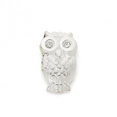 SILVER / CZ WISE OWL