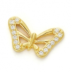 GOLD / CZ  BEAUTIFUL BUTTERFLY