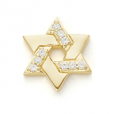GOLD / CZ STAR OF DAVID
