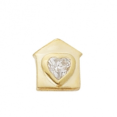 GOLD / CZ HOME IS WHERE THE HEART IS