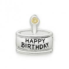 SILVER / CZ   BIRTHDAY CAKE