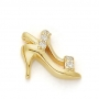 GOLD / CZ  HIGH HEEL SHOE - STILETTO