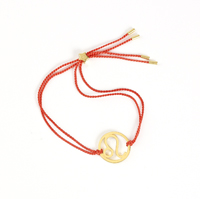 Leo Zodiac Gold-orange cord