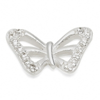 Silver Butterfly / CZ Earrings