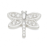 Silver Dragonfly / CZ Earrings