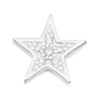 Silver Star / CZ Earrings