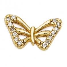 Gold Butterfly / CZ Earrings