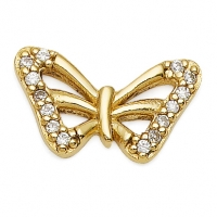 Gold Butterfly / CZ Earrings