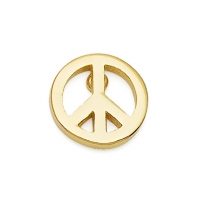Gold Peace Sign Earrings