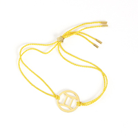 Gemini Zodiac Gold-yellow cord