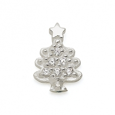 SILVER / CZ CHRISTMAS TREE
