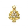 GOLD / CZ  CHRISTMAS TREE