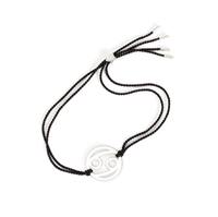 Cancer Zodiac Silver-black cord