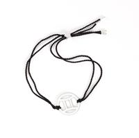 Gemini Zodiac Silver-black cord