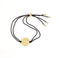 Heart Chakra Gold-black cord